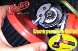 Escova em Nylon 120mm Macia para Roto Orbital com eixo