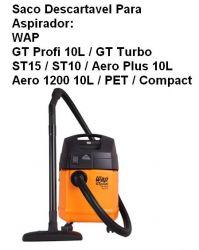 Saco descartável WAP GT Profi A10, GT Turbo, ST10 etc Kit c/ 3 unidades