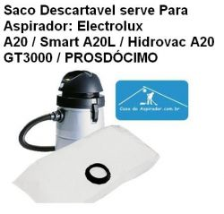 Saco Descartavel Electrolux A20 / Smart A20L / Prosdocimo / GT3000 ETC