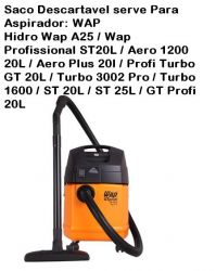 Saco descartavel WAP GT Profi 20L / A25 / Aero Plus etc kit c/ 3 unidades