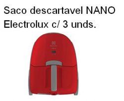 Saco descartável Nano Electrolux c/ 3 unds.