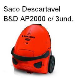 Saco Descartavel B&D AP2000 c/ 3 unidades