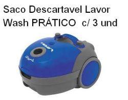 Saco Descartavel Lavor Pratico Kit com 3 unidades