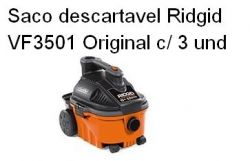 Saco Descartavel Ridgid VF3501 Original c/ 3und