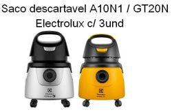Saco Descartavel A10N1 / GT20N Electrolux c/ 3 unidades