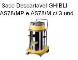 Saco Descartavel Ghibli AS78/MP e AS78/M  c/ 3 undidades