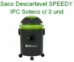 Saco descartavel SPEEDY / ECO IPC Soteco c/ 3 und
