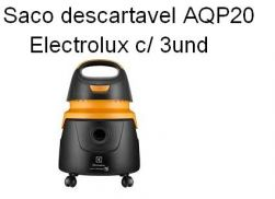 Saco descartavel AQP20 - Acqua Power Electrolux c/ 3 unidades