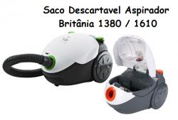 Saco descartavel Britânia 1380 ,1460,1600 e Philco 1680  c/ 3 unidades