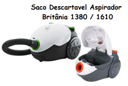 Saco descartavel Britânia 1380 / 1610 kit c/ 3 unidades