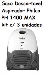 Saco Descartavel Philco PH 1400 MAX kit c/ 3 unidades