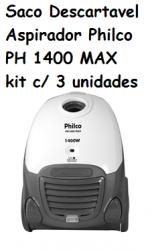 Saco Descartavel Philco PH 1400 MAX kit c/ 3 unidades