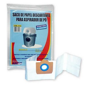 Saco descartável Água e pó H2PO e AR12 - Arno kit com 03 unidades