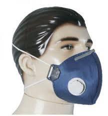 máscara Respirador Descartável com Valvula para Poeiras e Névoas P1