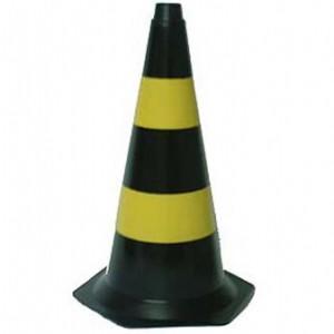 Cone Sinalizador  50 cm Preto/Amarelo