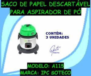 Saco Descartável A115 IPC Soteco Kit C/3 pçs