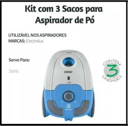 Saco Descartavel Sonic c/ 3 unidades Electrolux