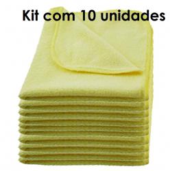 Flanela de Microfibra Autoamerica 40 cm x 40 cm COM 10 UNIDADES