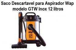 Saco descartavel para aspirador GTW Inox 12 litros