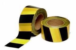 Fita zebrada 200 metros preto e amarelo