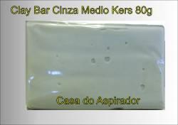 Clay Bar Kers Medio Cinza - 80g - Barra de descontaminação