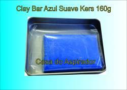 Clay Bar Kers Suave Azul - 160g - Barra de descontaminação