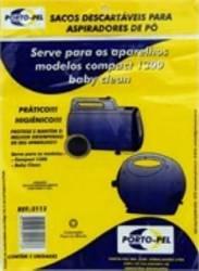 saco descartavel baby clean / compact 1300 electrolux kit com 3 peças