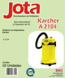 Saco Descartavel Karcher Saco descartável Karcher K2501, 2501, 2601, 3001, A2104, A2104Plus, NT180, NT181. kit com 3 pçs