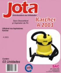 Saco descartavel Karcher A2003, A2004 kit com 3 pçs