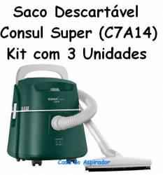 Saco Descartavel Consul Super C7A14 kit com 3 peças