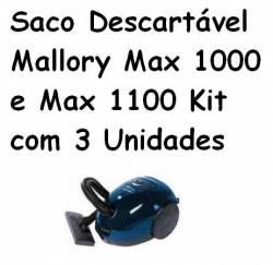 Saco Descartável Mallory Max 1000 e Max 1100 Kit com 3 Unidades