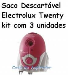 Saco descartável Electrolux Twenty kit com 3 unidades