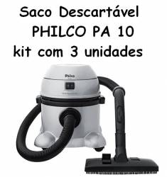 Saco Descartavel PHILCO PA 10 kit com 3 unidades