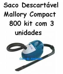 Saco Descartável Mallory Compact 800 kit com 3 unidades