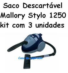 Saco Descartável Mallory Stylo 1250 kit com 3 unidades