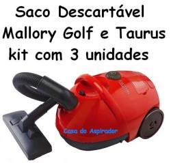 Saco Descartavel Mallory Golf e Taurus kit com 3 unidades