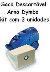 Saco descartável Arno Dymbo kit com 3 unidades