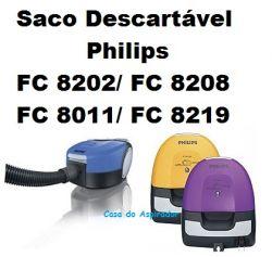 Saco Descartável Philips FC 8202 FC 8208 FC 8011 FC 8219 kit com 3 unidades