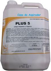 Plus 5 Spartan 5 litros Detergente para Carpetes e Tecidos